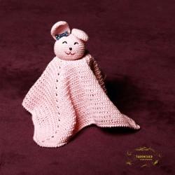 Manta de apego rosa para bebé
