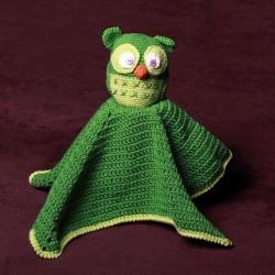 Manta de apego - Buho verde