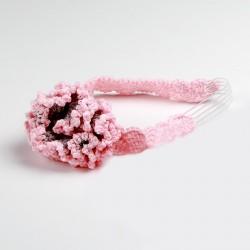 Turbante rosa para bebé